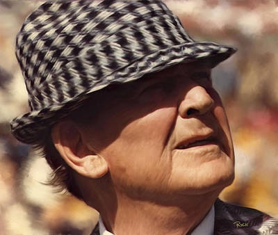 Bryant Painting - Bear Bryant Alabama Football Head Coach 01 by Rich image