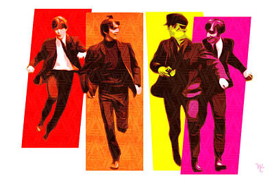Beatles Digital Art - Beatles - Pop Art by William Cuccio aka WCSmack