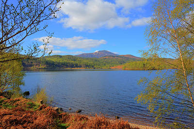 Invergarry Photograph - Beautiful Scottish Loch Garry Scotland Uk Lake West Of Invergarry On The A87 South Of Fort Augustus  by Michael Charles