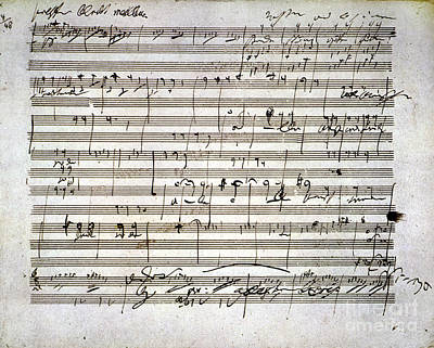 Composition Photograph - Beethoven Manuscript by Granger