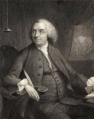 Benjamin Franklin Drawing - Benjamin Franklin, 1706-1790. American by Vintage Design Pics