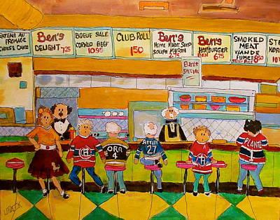 Ben's  Restaurant Montreal Memories Original by Michael Litvack