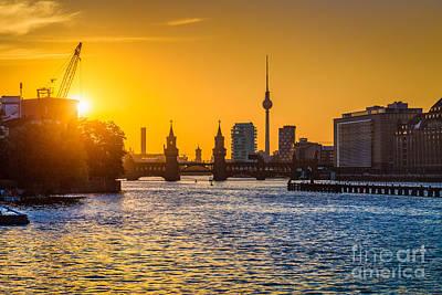 Berlin Sunset Print by JR Photography