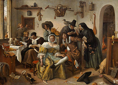 Beware Of Luxury Print by Jan Steen