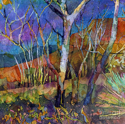 Impressionistic Landscape Painting - Beyond The Woods by Hailey E Herrera
