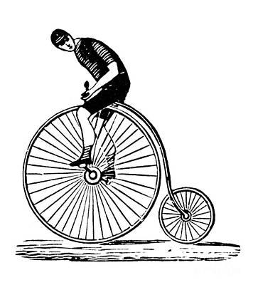 Bicycling Print by Granger