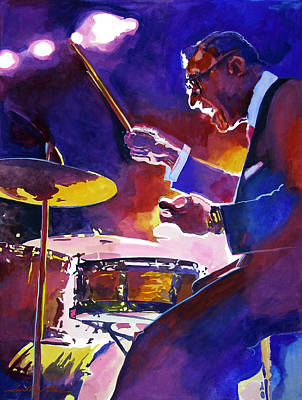 Drummer Painting - Big Band Ray by David Lloyd Glover