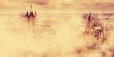 Politics Photograph - Big Ben And The Palace Of Westminster In Morning Fog by Michal Bednarek