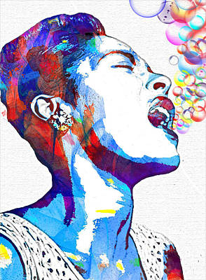 Harlem Mixed Media - Billie Holiday by Vel Verrept