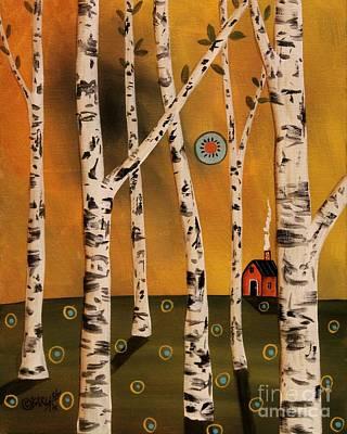 Birch Grove 1 Original by Karla Gerard