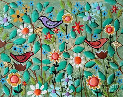 Birds And Blooms Print by Karla Gerard