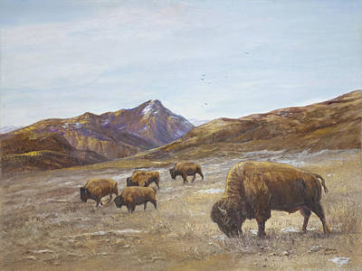 Bison Of Yellowstone Original by Sharon Karlson