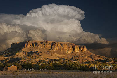 Adobe Church Photograph - Black Mesa by Keith Kapple