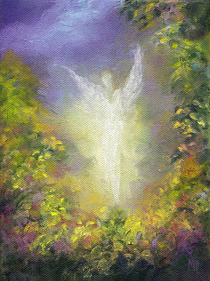 Spiritual Painting - Blessing Angel by Marina Petro