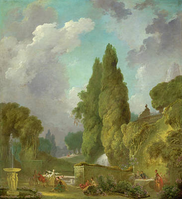 View Painting - Blindman's Buff by Jean-Honore Fragonard