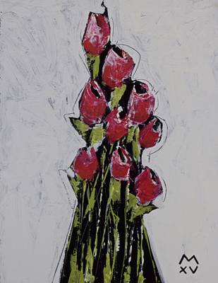 Outsider Art Painting - Bloom No. 1  by Mark M  Mellon