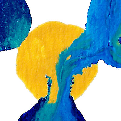 Blue And Yellow Interactions  Original by Amy Vangsgard
