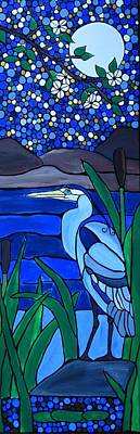 Blue Heron Original by Rachel Olynuk