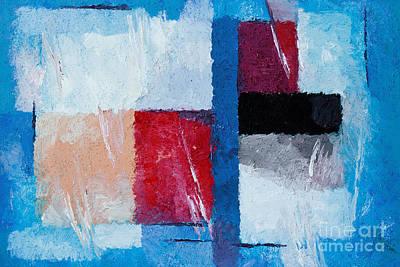 Colorfields Painting - Blue Mood by Lutz Baar