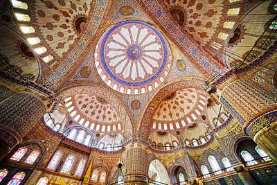 Blue Mosque Interior Print by Artur Bogacki