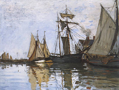 Architectural Painting - Boats In The Port Of Honfleur by Claude Monet