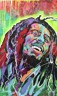 Bob Marley Abstract Painting - Bob Marley by Jay V Art
