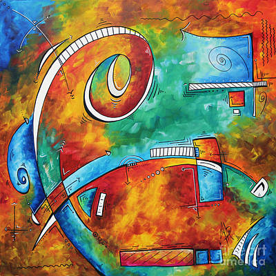 Bold Colorful Abstract Pop Art Original Contemporary Painting By Megan Duncanson Fire And Ice Original by Megan Duncanson