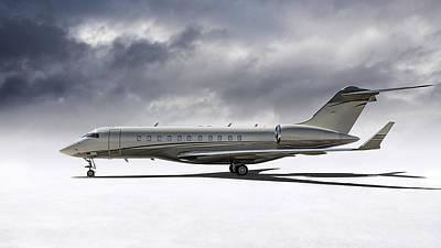 Digital Art - Bombardier Global 5000 by Douglas Pittman