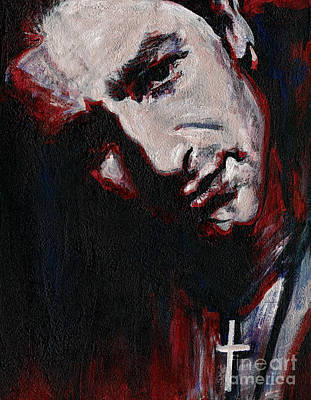 U2 Painting - Bono - Man Behind The Songs Of Innocence by Tanya Filichkin