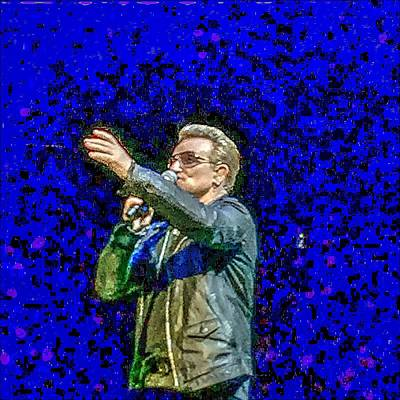Irish Rock Band Digital Art - Bono - U2 by Doc Braham