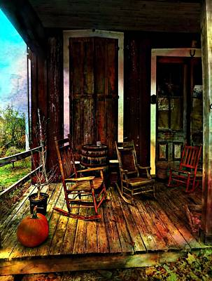 Photograph - The Country Store Porch by Julie Dant