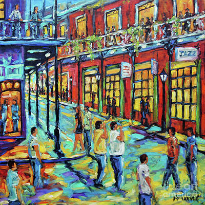 Painting - Bourbon Street New Orleans By Prankearts by Richard T Pranke