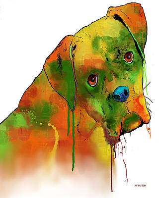 Boxer Dog Digital Art - Boxer by Marlene Watson