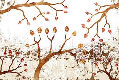 Branches Print by Frank Tschakert