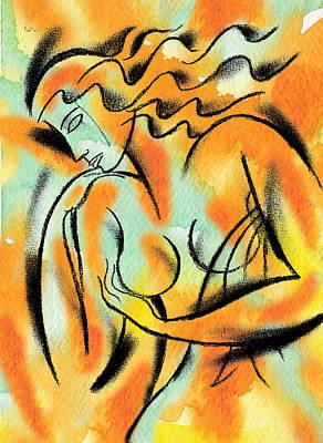 Exam Painting - Breast Exam by Leon Zernitsky