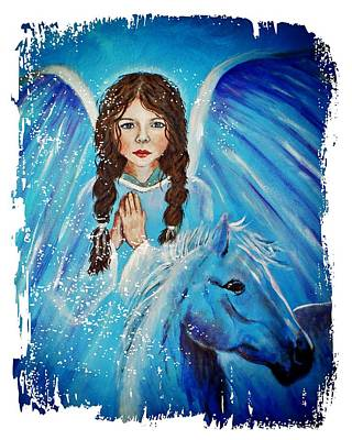 Brianna Little Angel Of Strength And Courage Print by The Art With A Heart By Charlotte Phillips