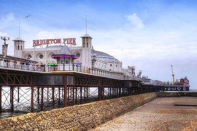 Brighton Pier Print by Joana Kruse