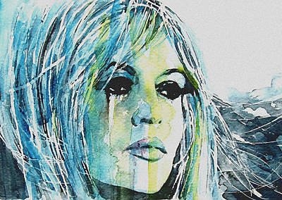 Brigitte Bardot Print by Paul Lovering
