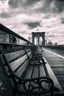 Brooklyn Bridge Mood Print by Jessica Jenney