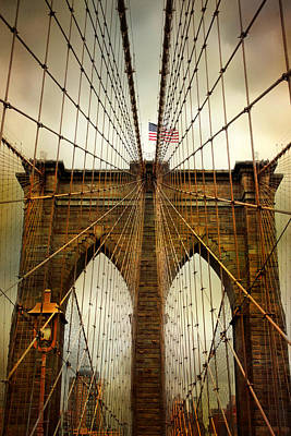 Brooklyn Bridge Digital Art - Brooklyn Bridge Twilight by Jessica Jenney