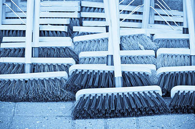 Stiff Photograph - Brooms by Tom Gowanlock