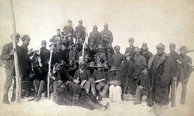 1890s Photograph - Buffalo Soldiers Of The 25th Infantry by Everett