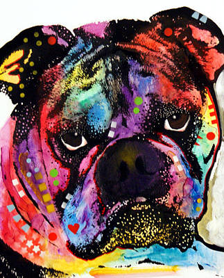 Bullie Painting - Bulldog by Dean Russo
