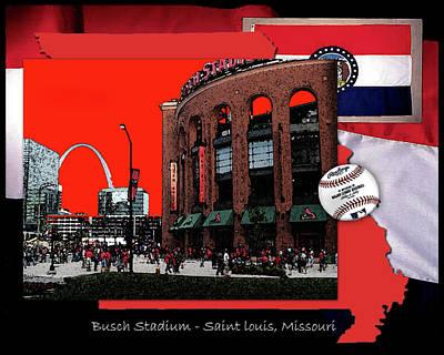 Busch Stadium Saint Louis Missouri Original by John Freidenberg
