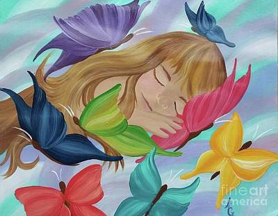 Butterfly Painting - Butterfly Kisses by Amanda Gervais