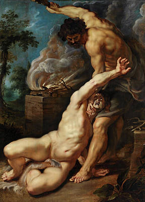 Cain Painting - Cain Slaying Abel by Peter Paul Rubens