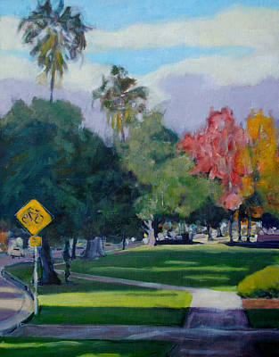 Pasadena Painting - Cal Tech by Richard  Willson