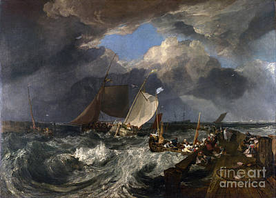 J Boat Painting - Calais Pier by Celestial Images