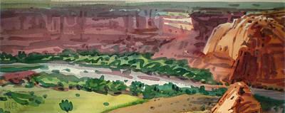 Canyon Panorama Print by Donald Maier