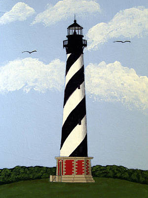 Historic Lighthouse Images Painting - Cape Hatteras Lighthouse by Frederic Kohli